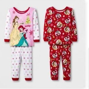 2 pack Disney Princess pajama sets